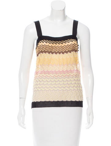 Missoni Knit Chevron Top None