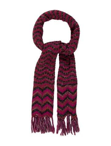 Missoni Chevron Knit Scarf w/ Tags None
