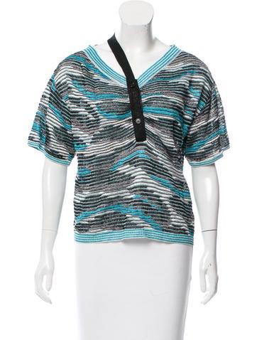 Missoni Knit Button-Up Top None