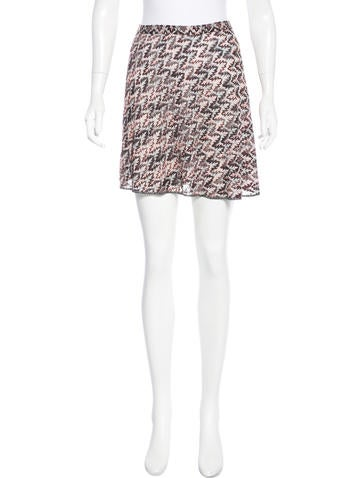 Missoni Metallic Knit Skirt None