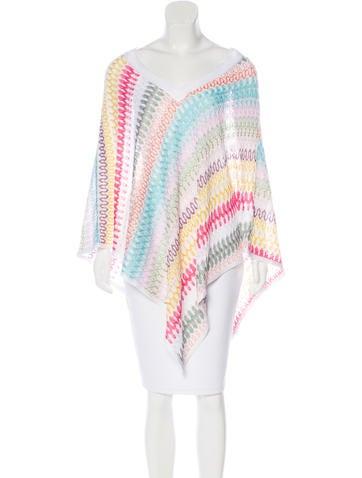 Missoni Pattern Knit V-Neck Poncho None