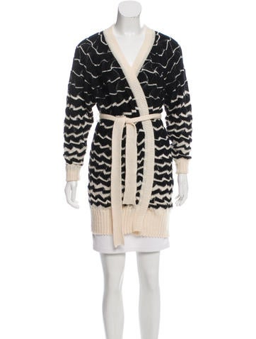 Missoni Belted Knit Cardigan None