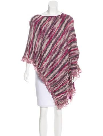 Missoni Fringe-Trimmed Wool Poncho None