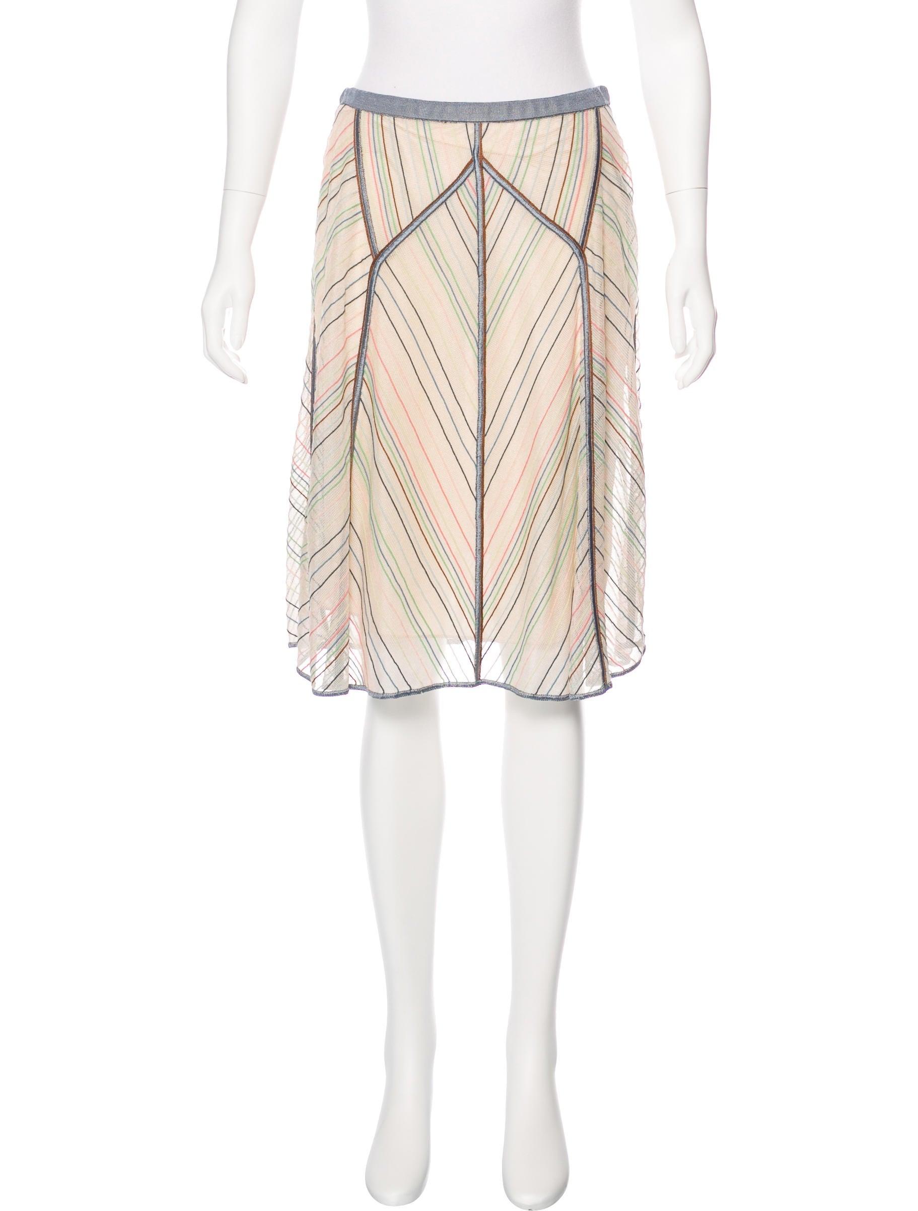 missoni chevron a line skirt clothing mis43575 the