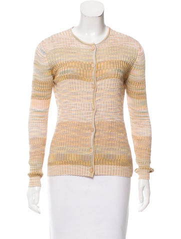 Missoni Rib Knit Crew Neck Cardigan None