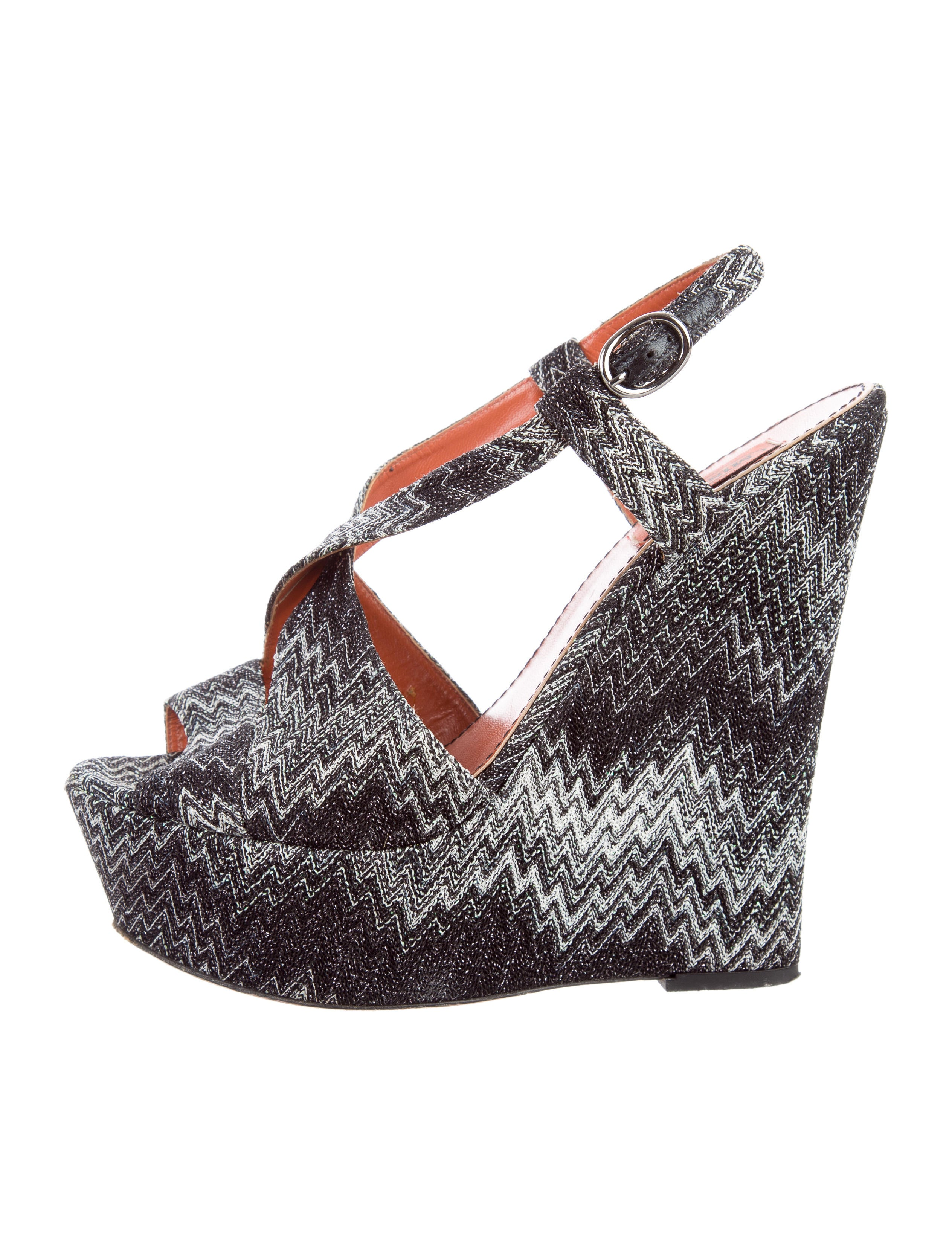 for nice sale online cheap official Missoni Chevron Platform Wedges online cheap online cheap sale big discount clearance free shipping JreSBvml