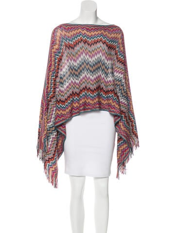 Missoni Wool Fringe-Trimmed Poncho None