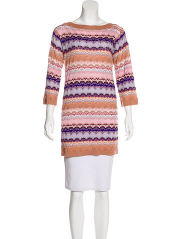 Missoni Cashmere-Blend Tunic Top w/ Tags None