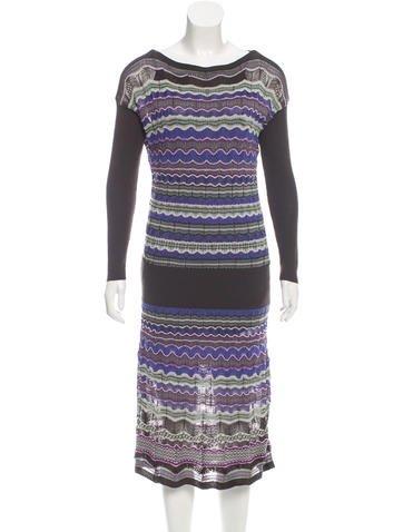 M.Missoni Long Sleeve Knit Dress None