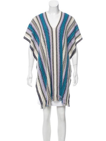 Missoni Fringe Trimmed Wool Poncho None