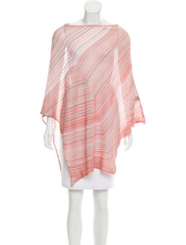 Missoni Metallic-Accented Striped Poncho w/ Tags None