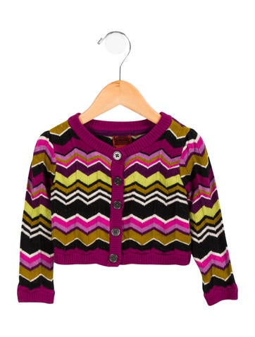 Missoni Girls' Patterned Knit Cardigan None