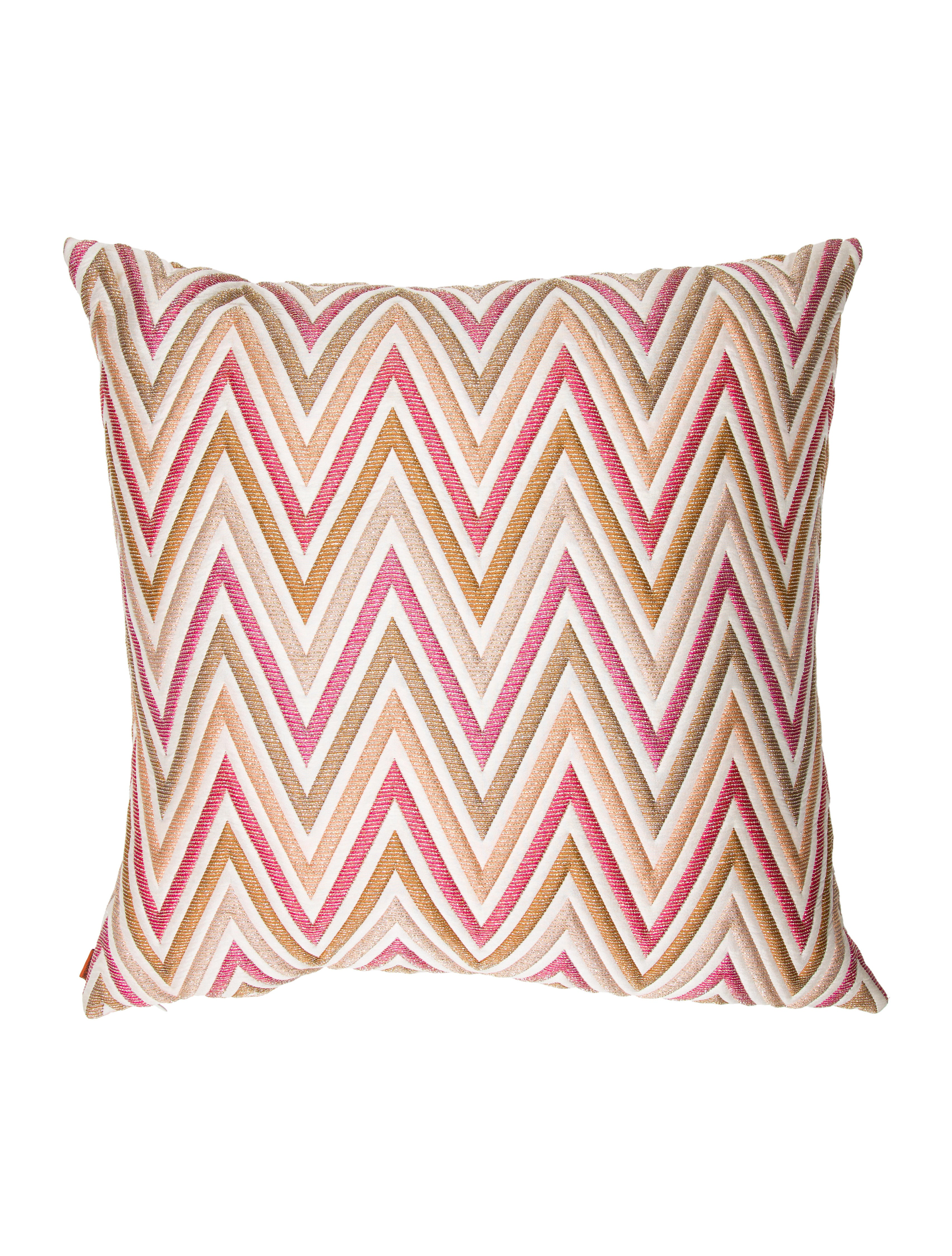 product sateen cotton cover pillows missoni pillow chairish