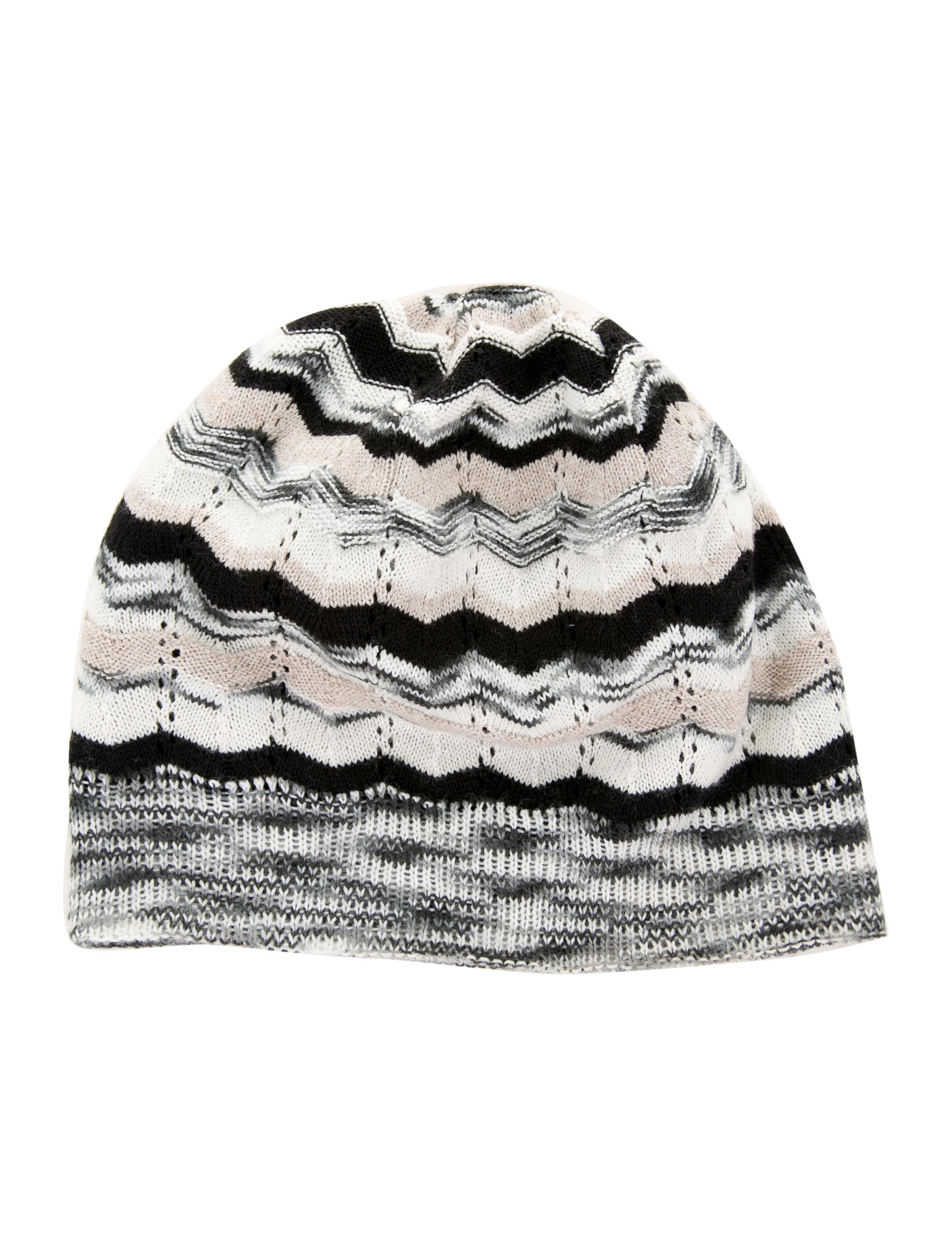 Missoni Chevron Knit Beanie - Accessories - MIS44633  89f1591dda1c