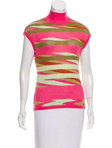 Missoni Cashmere & Silk-Blend Patterned Top None