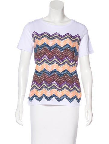 Missoni Printed Short Sleeve Top w/ Tags None