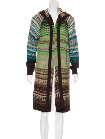 Missoni Wool-Blend Hooded Cardigan None