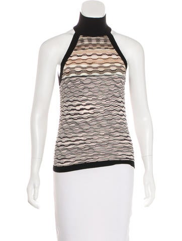 Missoni Wool & Silk-Blend Patterned Top None