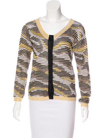 Missoni Metallic Knit Cardigan None