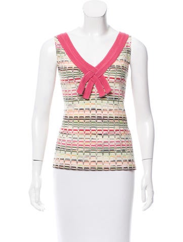 Missoni Sleeveless Patterned Top None
