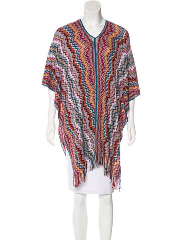 Missoni Wool Patterned Poncho None