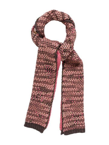 Missoni Rib Knit Patterned Scarf None