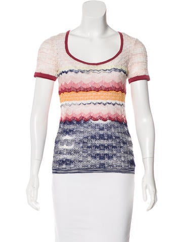Missoni Knit Short Sleeve Top None