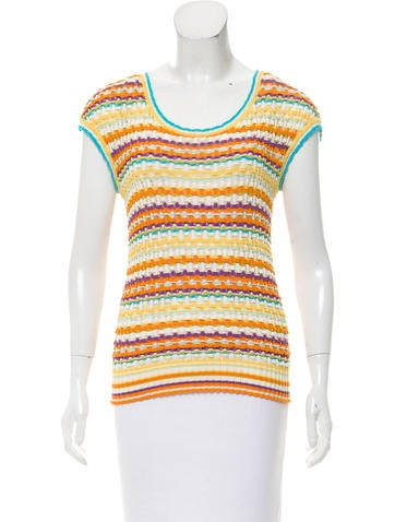 Missoni Striped Open Knit Top None