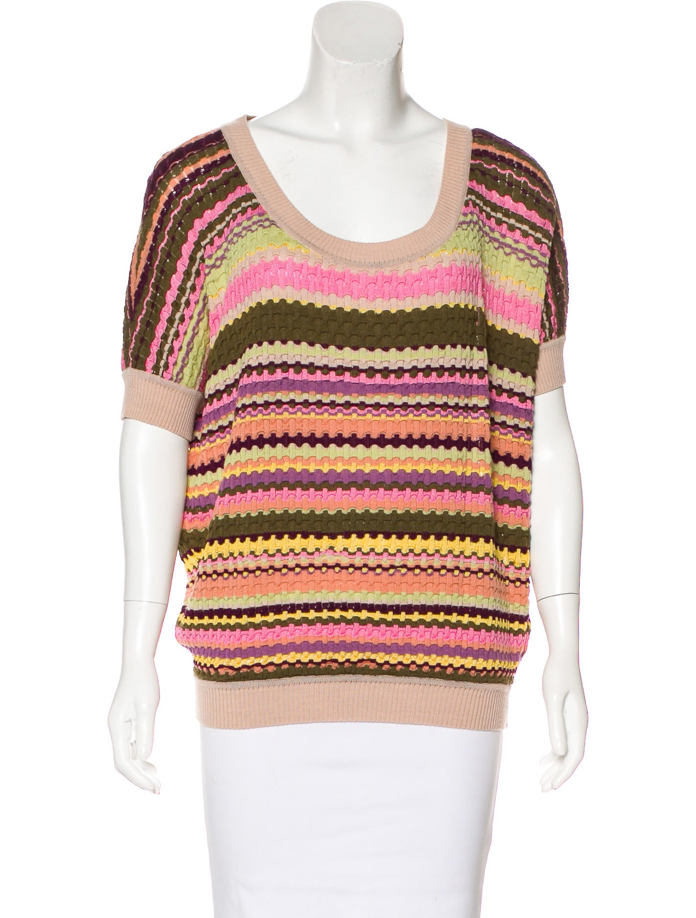 Missoni wool striped top clothing mis45535 the realreal for Best wool shirt jackets