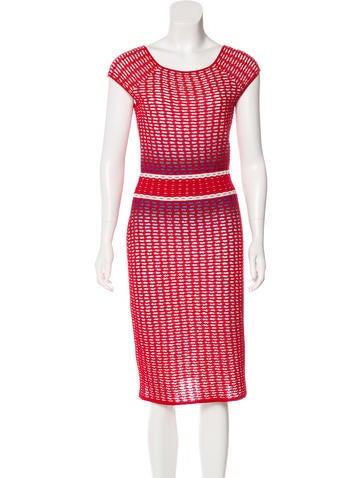 Missoni Knit Cap Sleeve Dress None