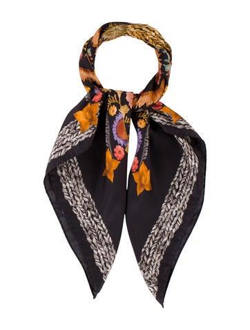 Missoni Printed Silk Scarf w/ Tags None