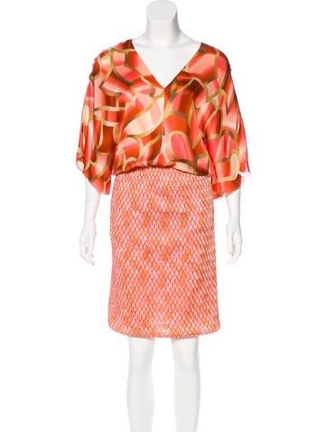 Missoni Silk Knit Midi Dress None