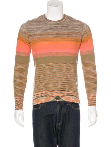 Missoni Striped Crew Neck Sweater None