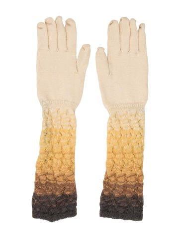 Missoni Wool Long Gloves None