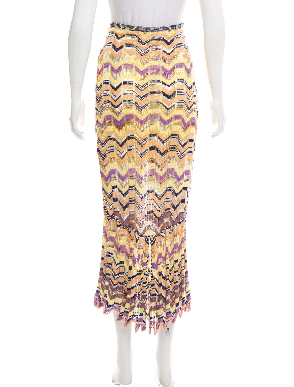 missoni chevron maxi skirt clothing mis46766 the