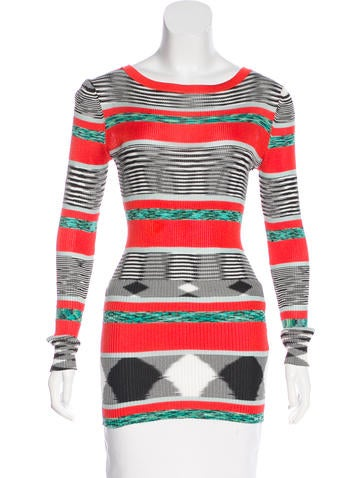 Missoni Stripe Rib Knit Sweater None