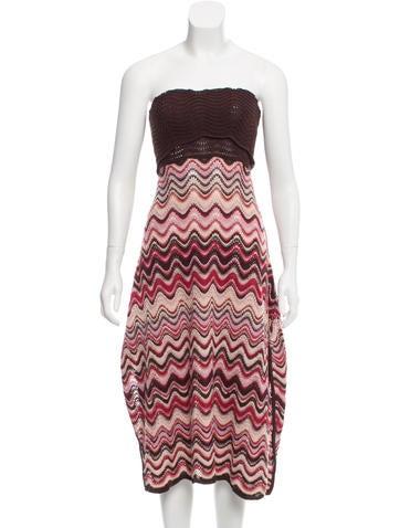 Missoni Wool Strapless Dress None