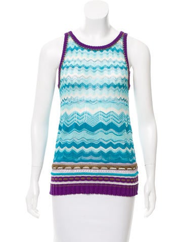 Missoni Sleeveless Knit Top None