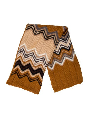Missoni Patterned Rib Knit Scarf None