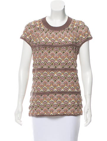 Missoni Patterned Wool Top None