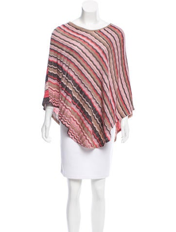 Missoni Striped Knit Poncho None