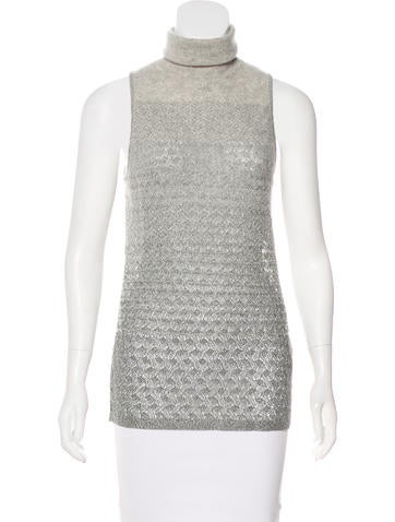 Missoni Sleeveless Turtleneck Sweater None
