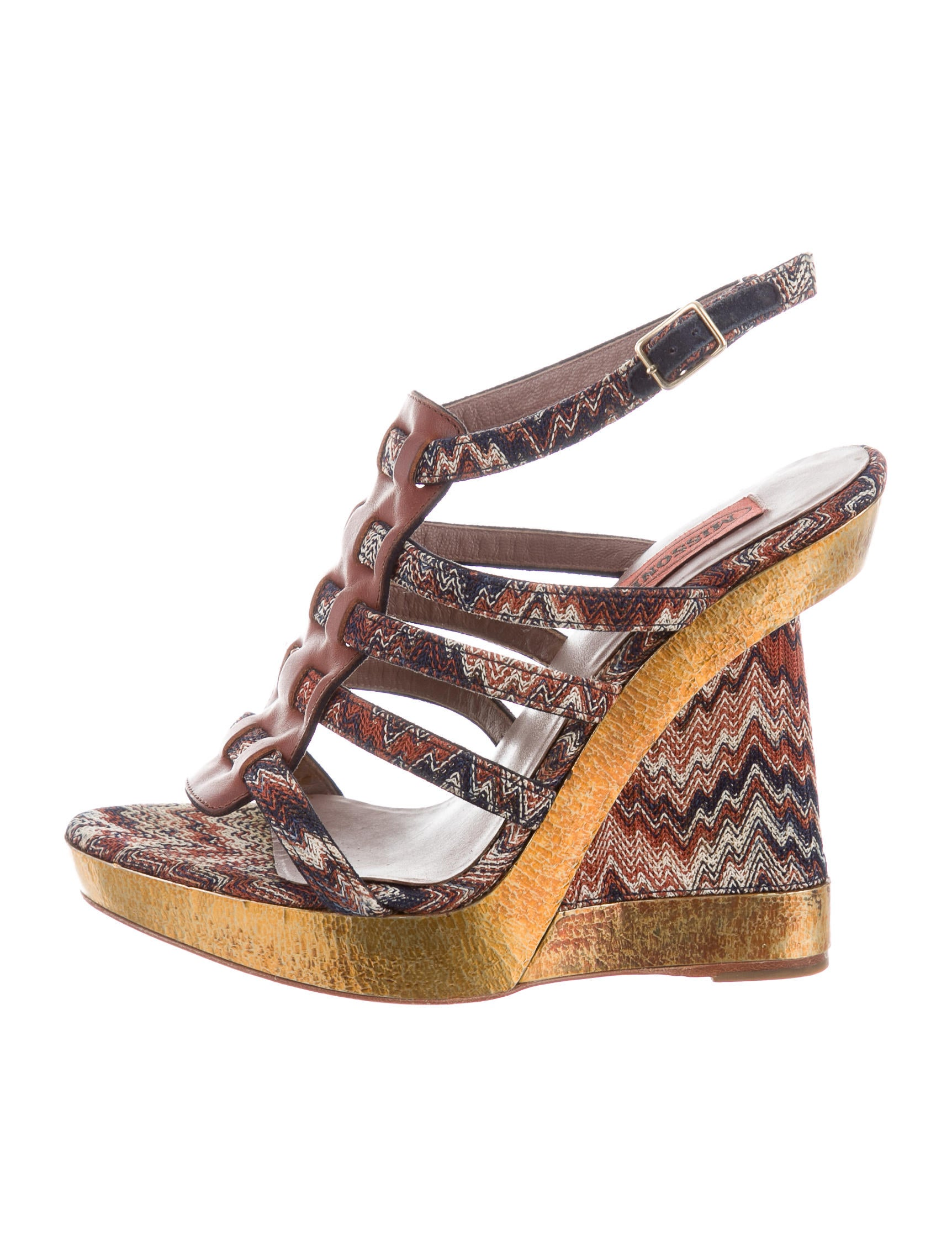 Missoni Embellished Wedged Sandals factory outlet cheap price RnVF5LJjE3