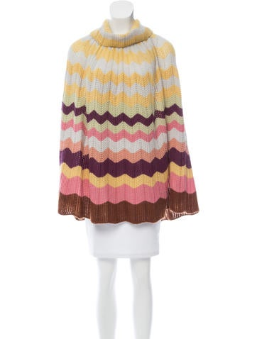 Missoni Patterned Wool Poncho None