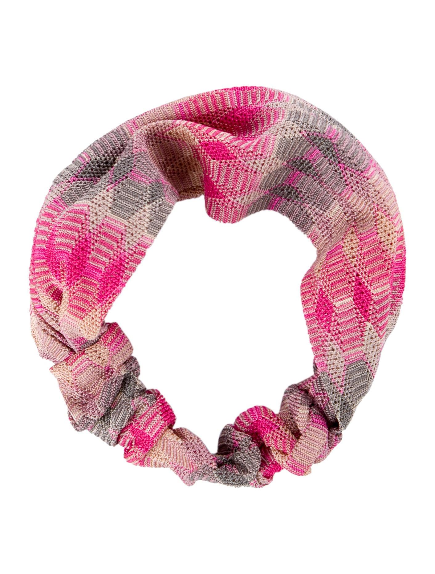 knitted patterned headband - Pink & Purple Missoni GflOk