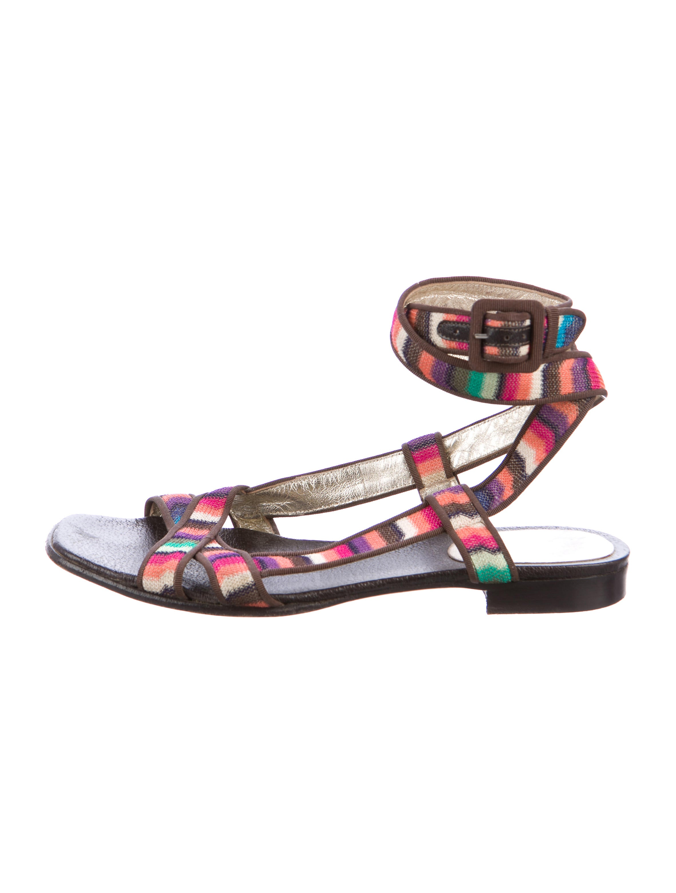 Missoni Knit Ankle Strap Sandals buy cheap eastbay looking for discounts X6JRgx2J4