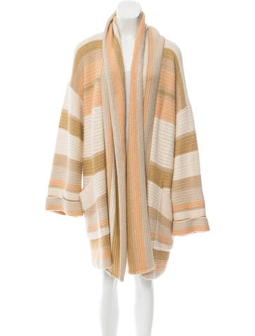 Missoni Striped Knit Cardigan None