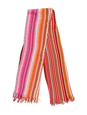 Missoni Knit Fringe Scarf w/ Tags None