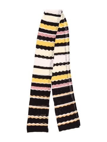 Missoni Knit Patterned Scarf None