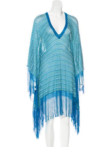 Missoni Fringe-Trimmed Poncho Cover-Up None